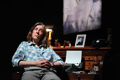Joanna Murray-Smith as Patricia Highsmith in Switzerland at the Ambassadors Theatre. Photo: Robbie Jack/ Corbis via Getty Images