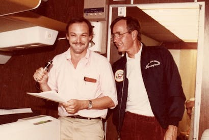 Christopher Buckley with George Bush