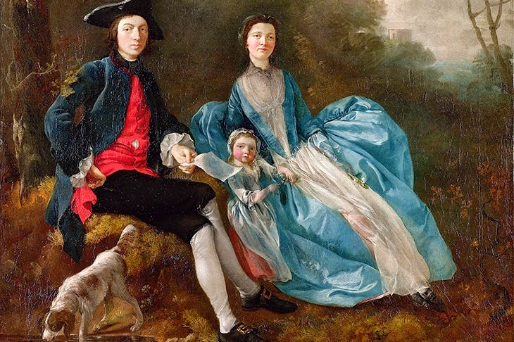 'The Artist with his Wife Margaret and Eldest Daughter Mary', c.1748, by Thomas Gainsborough