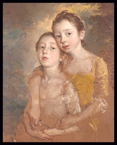 'Mary and Margaret Gainsborough, the Artist's Daughters, Playing with a Cat', c.1760–1, by Thomas Gainsborough