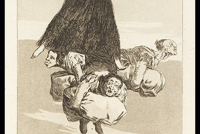 'Volaverunt' from the Los Caprichos series, 1799, by Francisco Goya