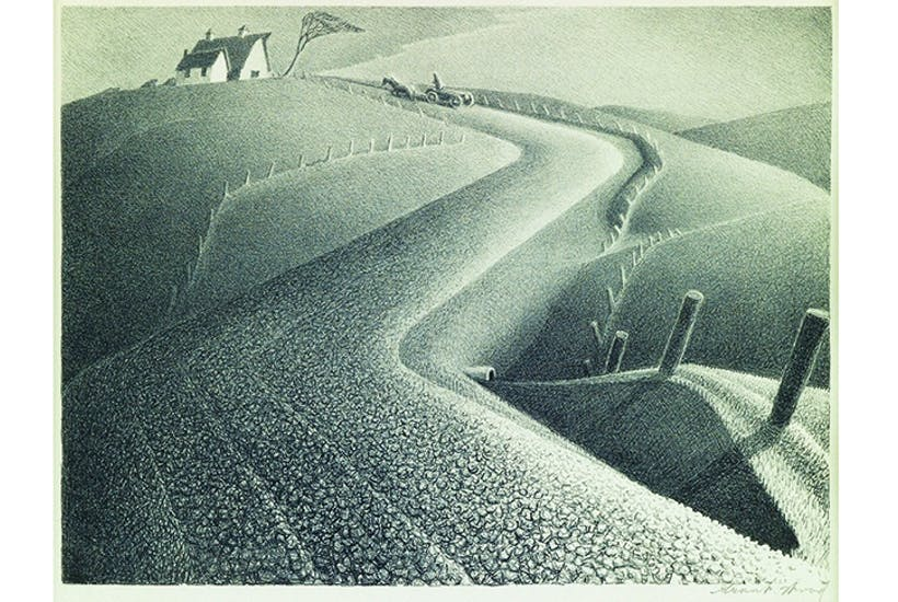 'March', 1939, by Grant Wood