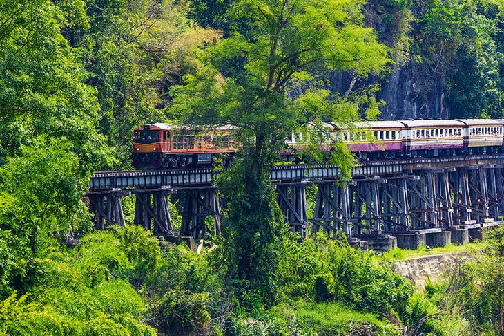 The Death Railway: the line built by prisoners of war in Burma at the cost of thousands of lives