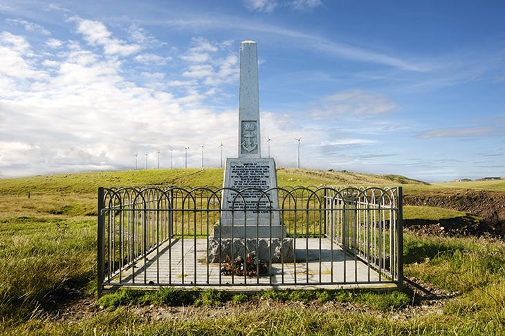 The memorial on Lewis marking the Iolaire tragedy