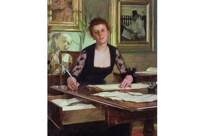 Portrait of the Artist's wife, by Henry Herbert La Thangue. Credit: Bridgeman Images
