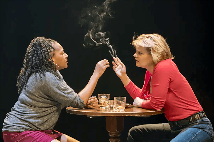 Pro-Trump propaganda at the Donmar Warehouse by Lynn Nottage. Photo: Johan Persson