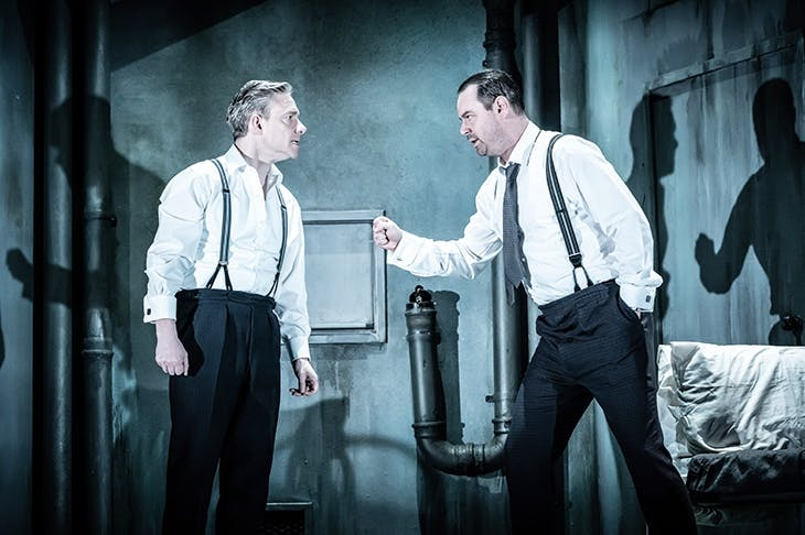Martin Freeman as Gus and Danny Dyer as Ben in Harold Pinter's The Dumb Waiter