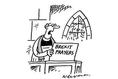 'Due to Brexit shortages, we haven't got a prayer.'