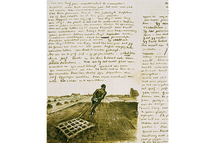 A letter from Vincent van Gogh to his younger brother Theo, dated 28 October 1883