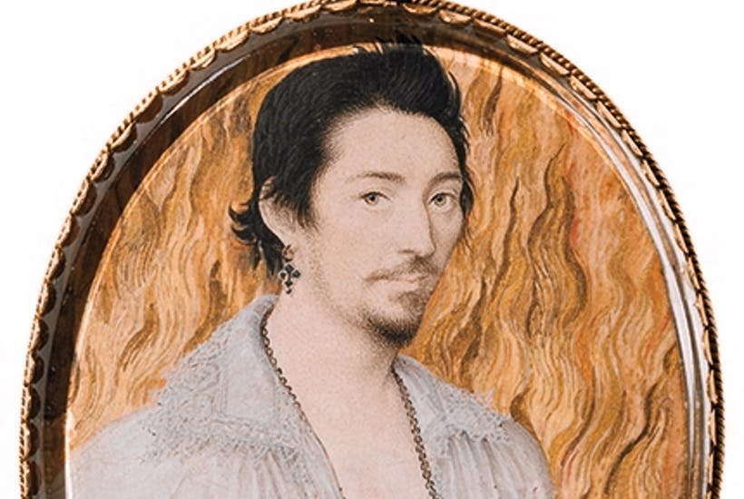 'Unknown Young Man against a Background of Flames', c.1600, by Nicholas Hilliard