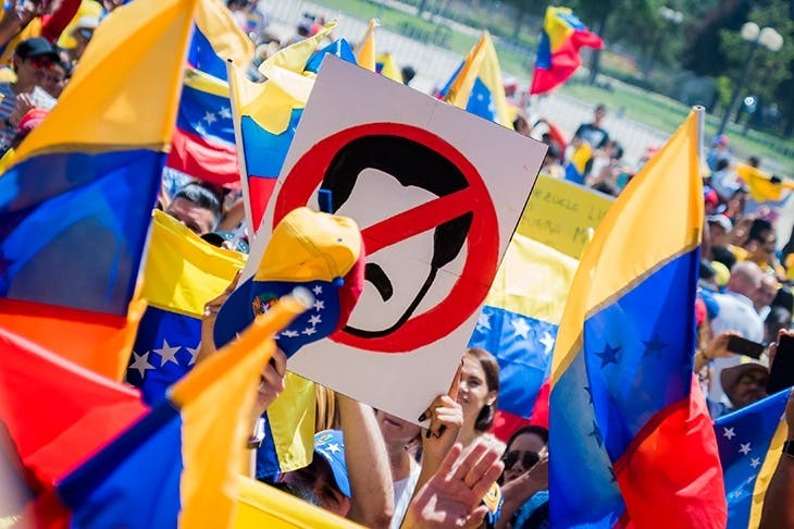 Opposition supporters take to the streets against Nicolás Maduro [GETTY IMAGES]