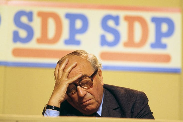 Roy Jenkins at an SDP conference in 1986 (Fox Photos/Hulton Archive/Getty Images)