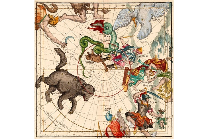 The North Pole, from the star atlas of the French Jesuit priest and scientist, Ignace-Gaston Pardies, published in 1674