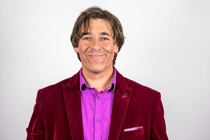 A blast of restorative air: comedian Mark Steel. Photo: In Pictures Ltd./ Corbis/ Getty Images