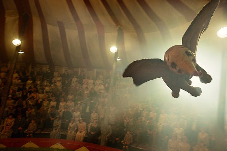 When I see an elephant fly: a scene from Tim Burton's Dumbo