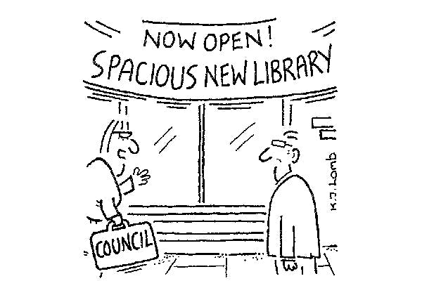 'We've created additional space by getting rid of the books.'