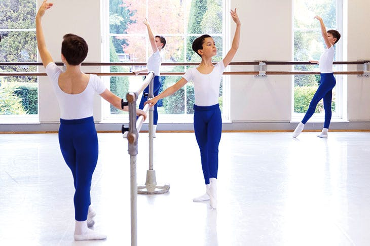 Year 8 boys at the barre