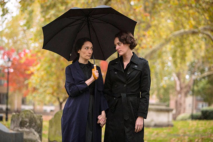 Sian Clifford as Claire and Phoebe Waller-Bridge as Fleabag