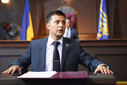 Life imitates art: Volodymyr Zelensky as Vasyl Holoborodko in Servant of the People