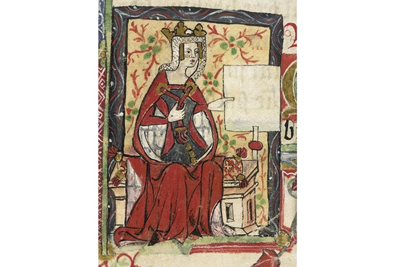 The empress who was just too imperious: portrait of Matilda from the Golden Book of St Albans, 1380