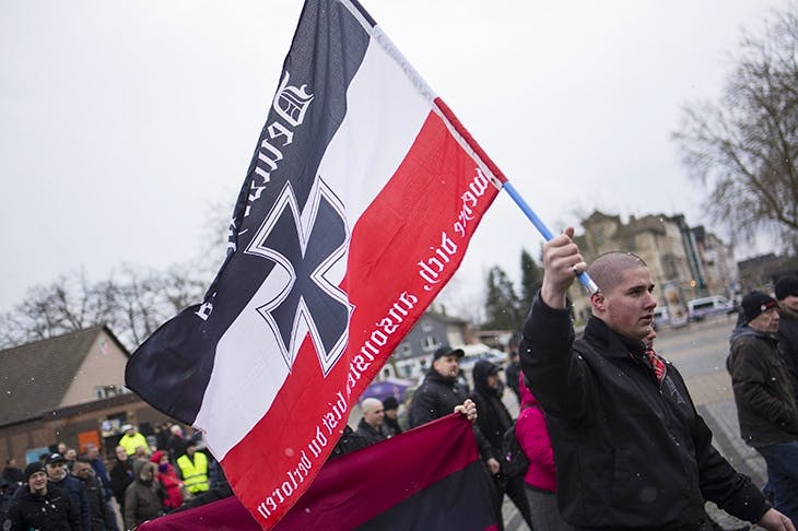 Demonstration of right-wing 'patriots' in Lower Saxony, 2019. Credit: Rex Features