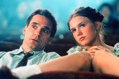 Dominique Swain as Lolita and Jeremy Irons as Humbert in Adrian Lyne's 1997 film (Rex Fea-tures)