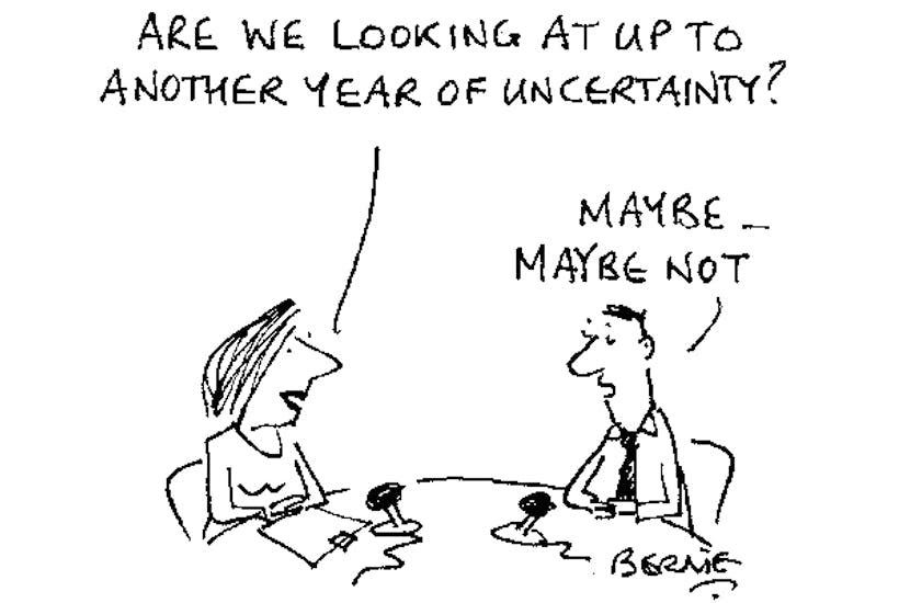 Image result for uncertainty cartoon