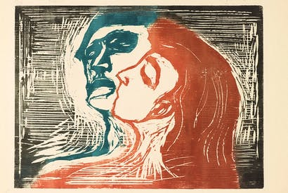 'Head by Head', 1905, by Edvard Munch