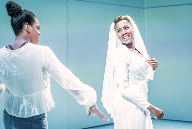 Star quality: Jade Anouka, right, as Bea in Ella Road's The Phlebotomist