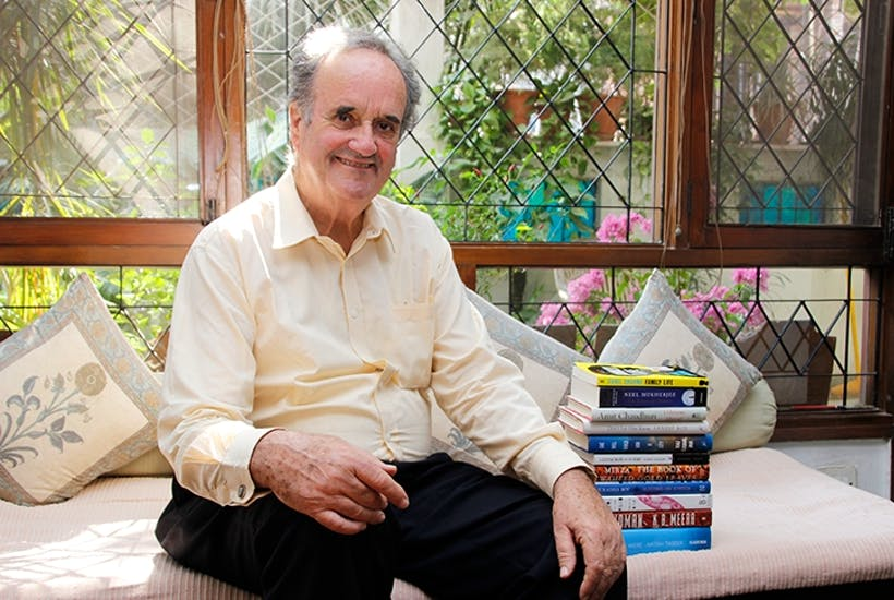 Mark Tully, presenter of Something Understood, in New Delhi in 2015. Image: Shivam Saxena/ Hindustan Times/ Getty Images