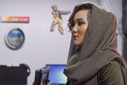 Zahra Elham, the first women to win the show Afghan Star in its 14-year history. Credit: WAKIL KOHSAR / Contributor