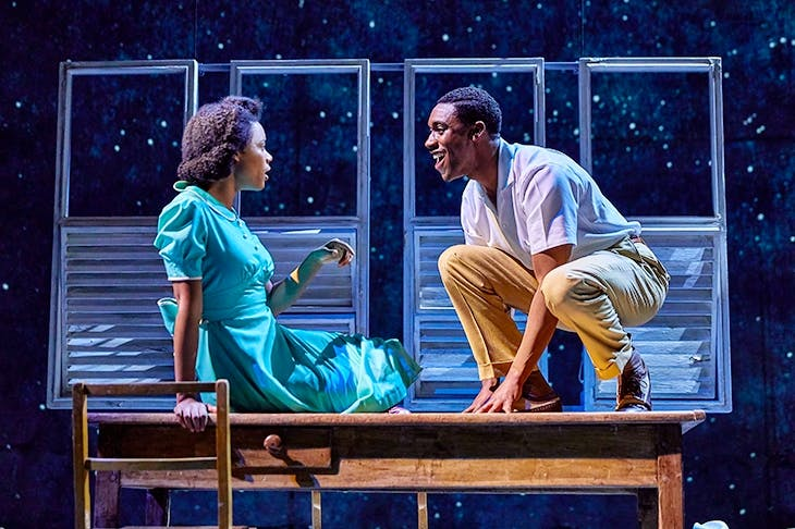 Leah Harvey as Hortense and C.J. Beckford as Michael Roberts in Small Island at the National Theatre Credit: Brinkhoff-Moegenburg