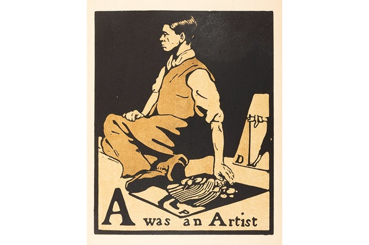 'A was an Artist', from William Nicholson's An Alphabet, 1897