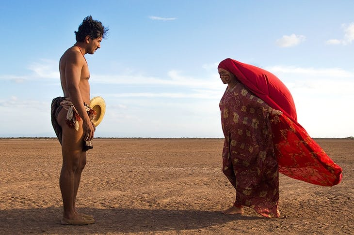 The tropes of noir and the spaghetti western are passed through a magical prism: a scene from Ciro Guerra and Cristina Gallego's Birds of Passage