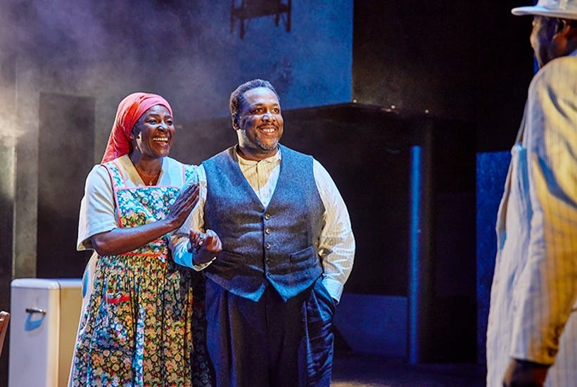 Sharon D. Clarke and Wendell Pierce in Death of a Salesman at the Young Vic Credit: © Brinkhoff Mogenburg
