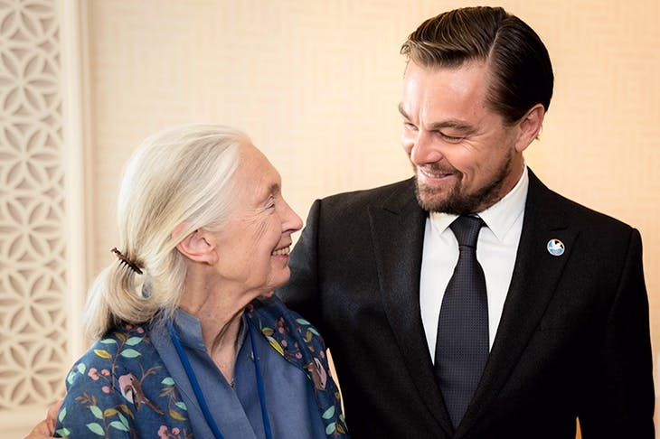 My vegan brunch with Leo DiCaprio and Jane Goodall