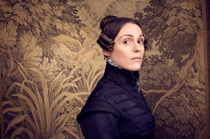 Lusty, roistering Suranne Jones as Anne Lister in Gentleman Jack. Image: BBC / Lookout Point / Jay Brooks