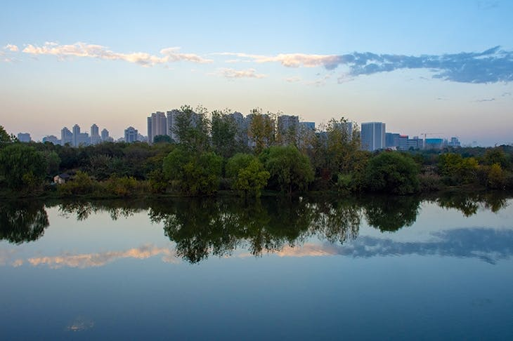 The flood-prone megacity of Wuhan on the Yangtze now has permeable pavements and artificial wetlands to soak up the water like a sponge