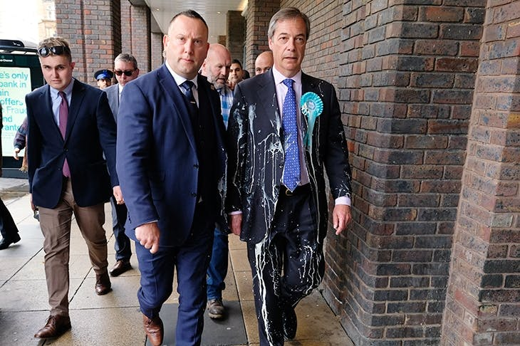 What punishment can you expect for throwing a milkshake at a politician? | The Spectator