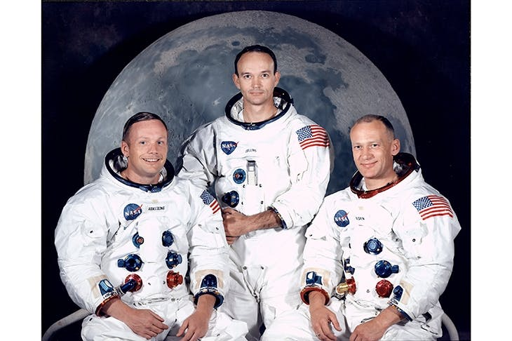 The Apollo 11 astronauts: Neil Armstrong, Mike Collins and Buzz Aldrin. Credit: Getty Images