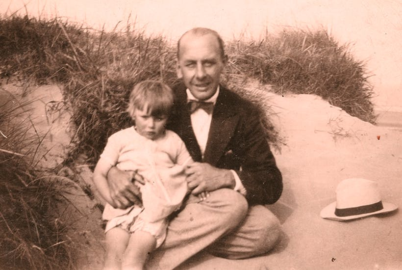 A snapshot of George holding his infant daughter on Chapel Sands provides a key to the family mystery.