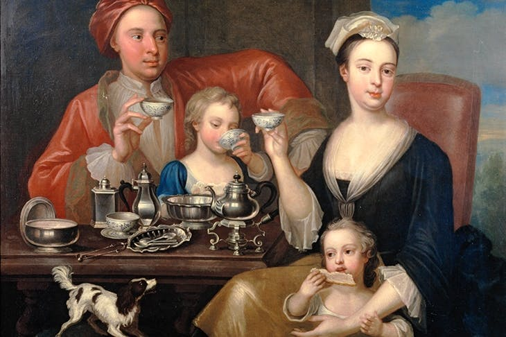'The Tea Party', 1727, by Richard Collins