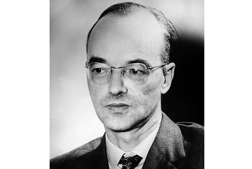 Klaus Fuchs after his release from prison in 1959