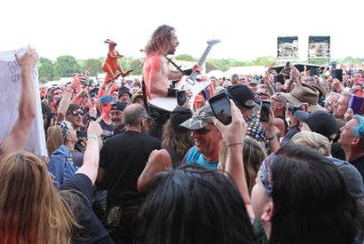 Airbourne performing at Ramblin' Man Fair 2019. Image: Mick Hutson