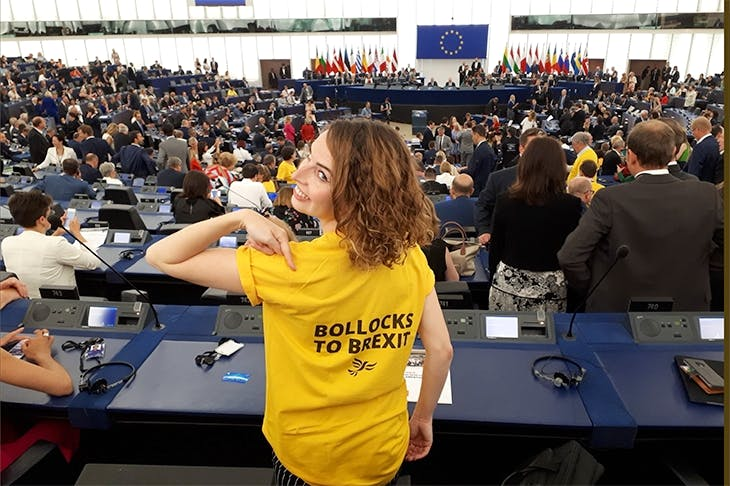 Lib Dem MEP Luisa Porritt in the European Parliament last week (Twitter)