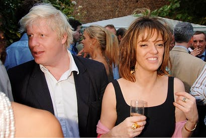 Boris Johnson and Petronella Wyatt at The Spectator's summer party in 2016 (Alan Davidson/Shutterstock)