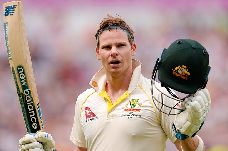 Steve Smith during the first Test Match between England and Australia last week (Getty)